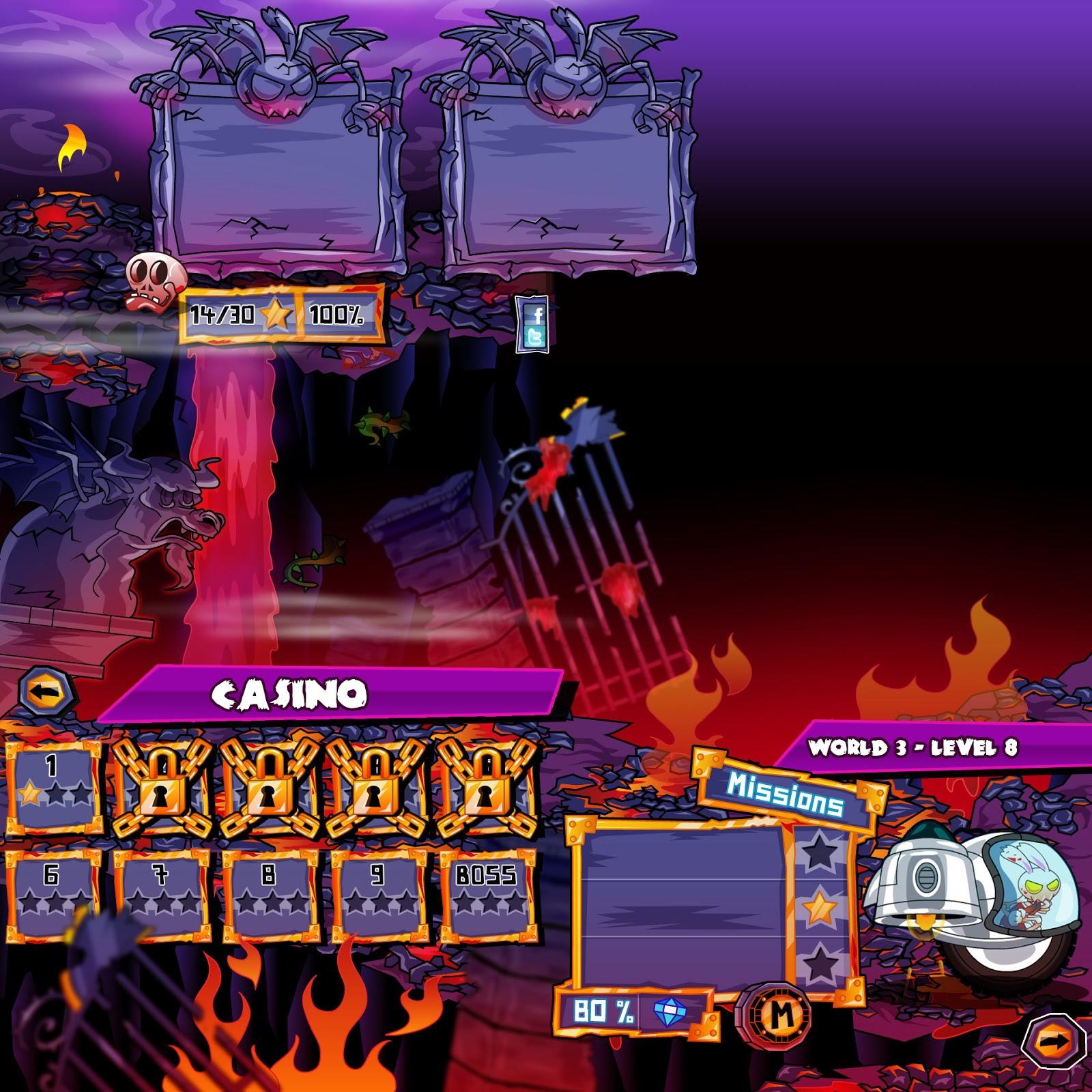 Hell Yeah: Pocket Inferno (IPad, IPhone, Android) – ARKEDO – Pohlm studio – SEGA
